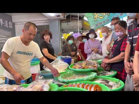 Taiwan Seafood Auction-traditional Market,salmon,talipiah