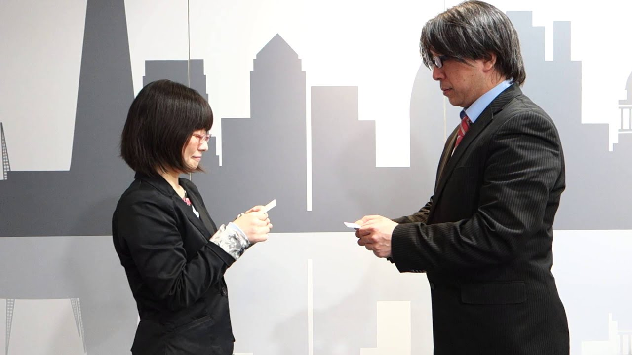 Japanese Focus: Exchanging Business Cards (with Chinese subtitles ...