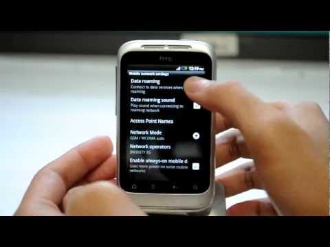 HTC Wildfire S: Turn off / on data roaming services