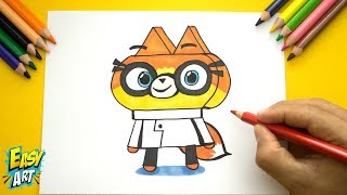 Como Dibujar a Doctora Fox unikitty - How to Draw doctor fox - Dibujos Faciles   Easy Art