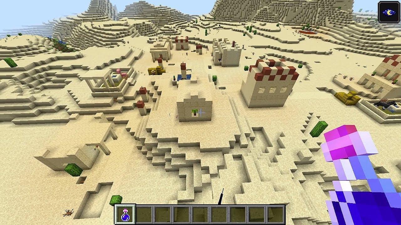 Minecraft 12.124 Seed 12125: New desert village near spawn