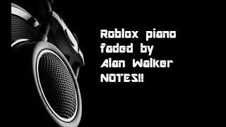 Roblox Faded (Lyrics) piano tutorial | Atomic Pixel
