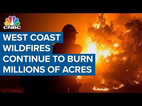 West Coast wildfires still scorching millions of acres
