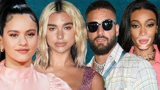 Dua Lipa y Rosalía Colaborarán, Kim Kardashian y Maluma en Fashion Show