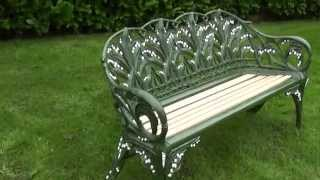 Antique Coalbrookdale Lilly Of The Valley Garden Bench