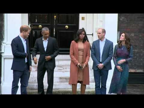Obama Completes Royal Visit with Princes
