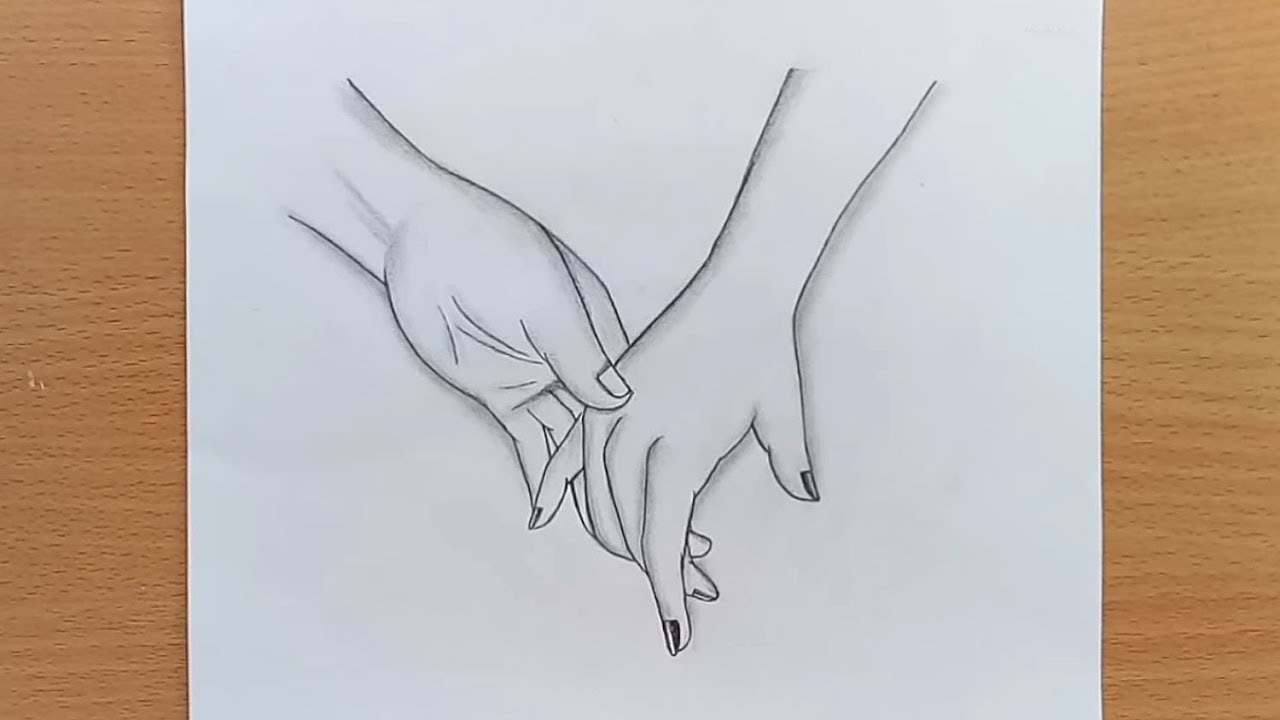 How to draw holding hands holding hands pencil sketch