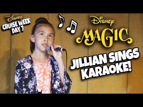 JILLIAN SINGS ON THE DISNEY MAGIC!!! Farewell Party,  AquaDunk, Bingo & Karaoke!
