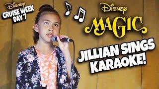 JILLIAN SINGS ON THE DISNEY MAGIC!!! Fairwell Party, AquaDunk, Bingo & Karaoke!