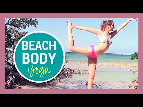 Beach Yoga HIIT Workout - 30 min Full Body Yoga Flow