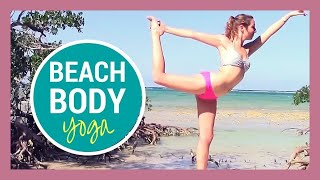 Beach Yoga HIIT Workout - 30 min Full Body Yoga Flow