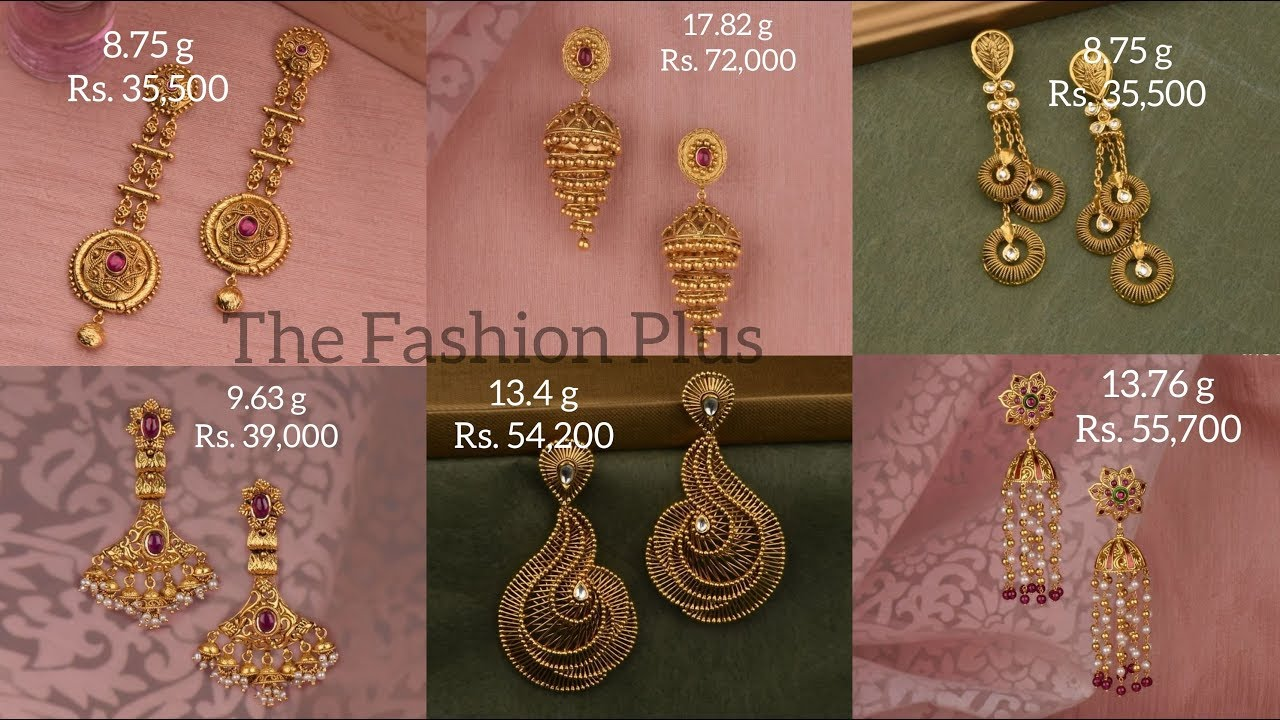 Latest Gold Earring Design 2020 With Weight And Price Youtube,Victoria Beckham Designs Wedding Dress