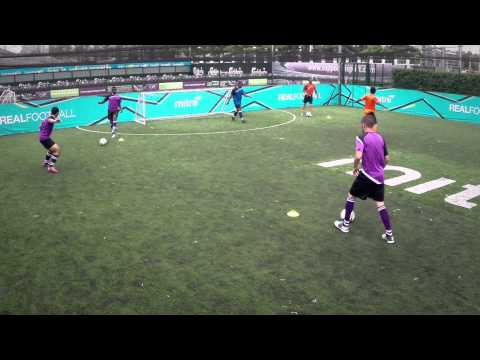 How to control the ball under pressure   Soccer training drill   5-a-side