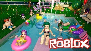 MY SISTER LEAGUE IN THE PARTY🔮ROBLOX