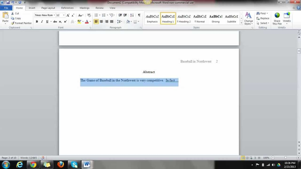 writing in apa using a template writing in apa using a template