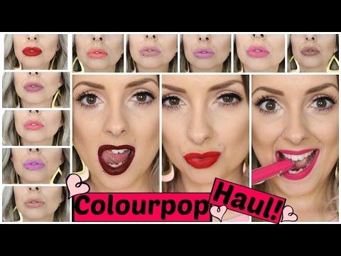 Huge Colourpop Haul & Try On!