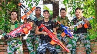LTT Nerf War : SEAL X Warriors Nerf Guns Fight Criminal Group SWAT Perfect Couple