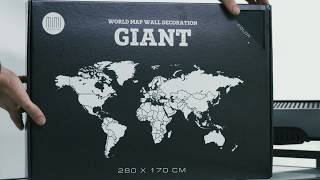 World Map Wall Decoration Giant