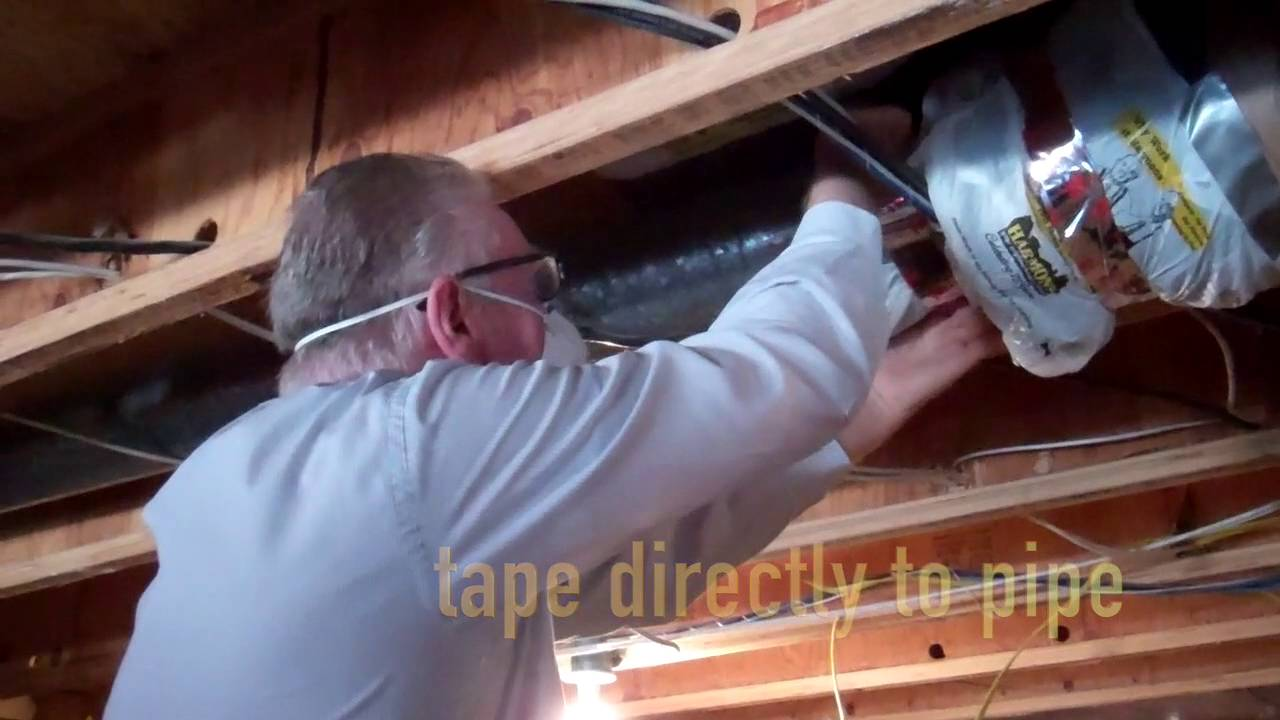 HVAC duct sleeve insulation - laziest product sold @ Home Depot