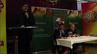 Patrick Poppel begrüßt Alexander Dugin