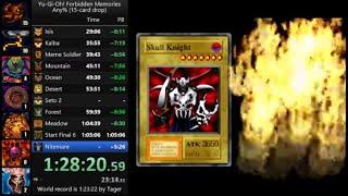 Yu-Gi-Oh! Forbidden Memories 15-card drop speedrun in 1:29:28