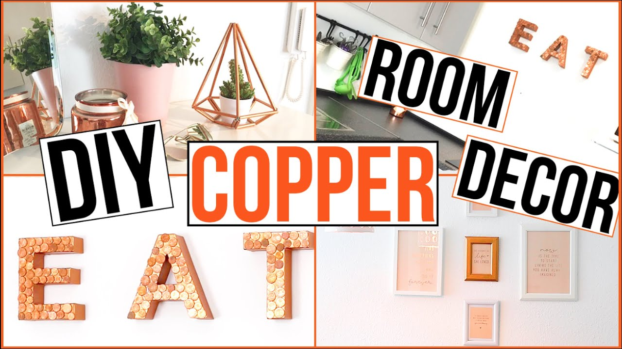 Diy Room Decor Rosegold Kupfer Thebeauty2go Youtube