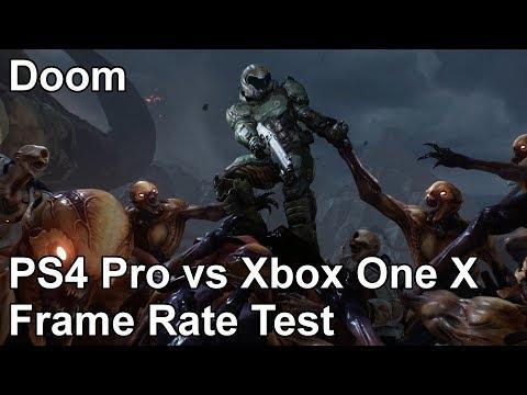 Сравнение обновленной версии DOOM для Xbox One X и Playstation 4 Pro