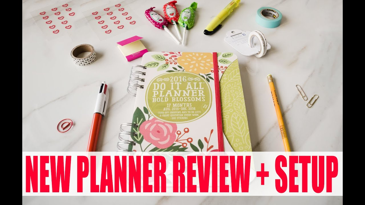 PLANNER REVIEW SETUP