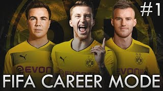 BORUSSIA DORTMUND FIFA CAREER MODE! - NEW PLAYERS!!! #1