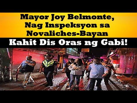 Mayor Joy Belmonte Nag Inspeksyon Sa Novaliches-Bayan Kahit Dis Oras ng Gabi!