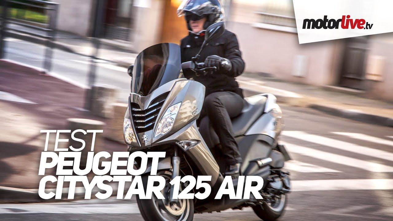 test | peugeot citystar 125 air - youtube