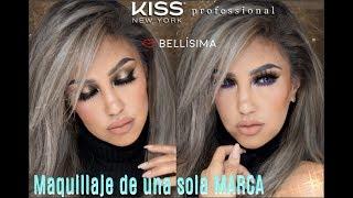 🔥Maquillaje una sola MARCA  Bellisima / Makeup with ONE single Brand  Kiss New York | auroramakeup