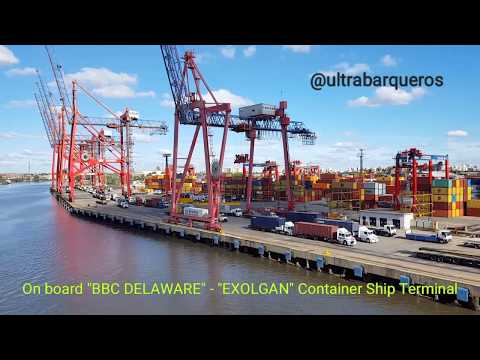 """EXOLGAN"" Container Terminal - Dock Sud #BuenosAiresHarbour - On board General Cargo ""BBC DELAWARE"""