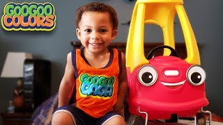 Car Found Gaga Baby! (Talking Car Learns to Count to 5 with Hide & Seek)