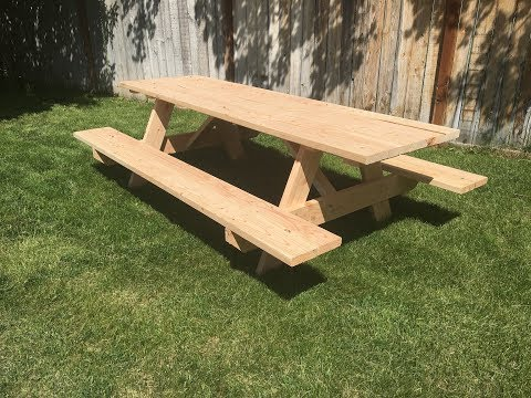 How to Build A Picnic Table - Detailed Step By Step Guide