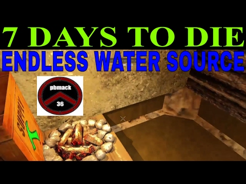 7 DAYS TO DIE ON PS4 * HOW TO BUILD ENDLESS WATER SOURCE *