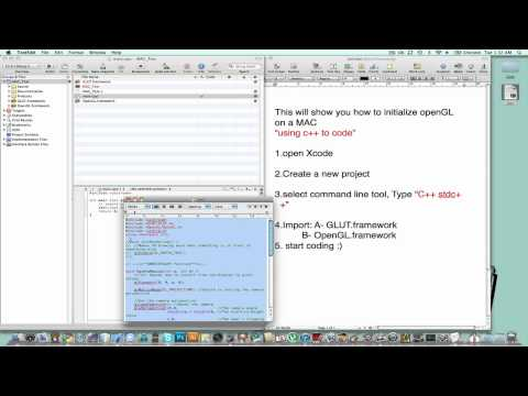 How to initialize OpenGL on Mac OSX - YouTube