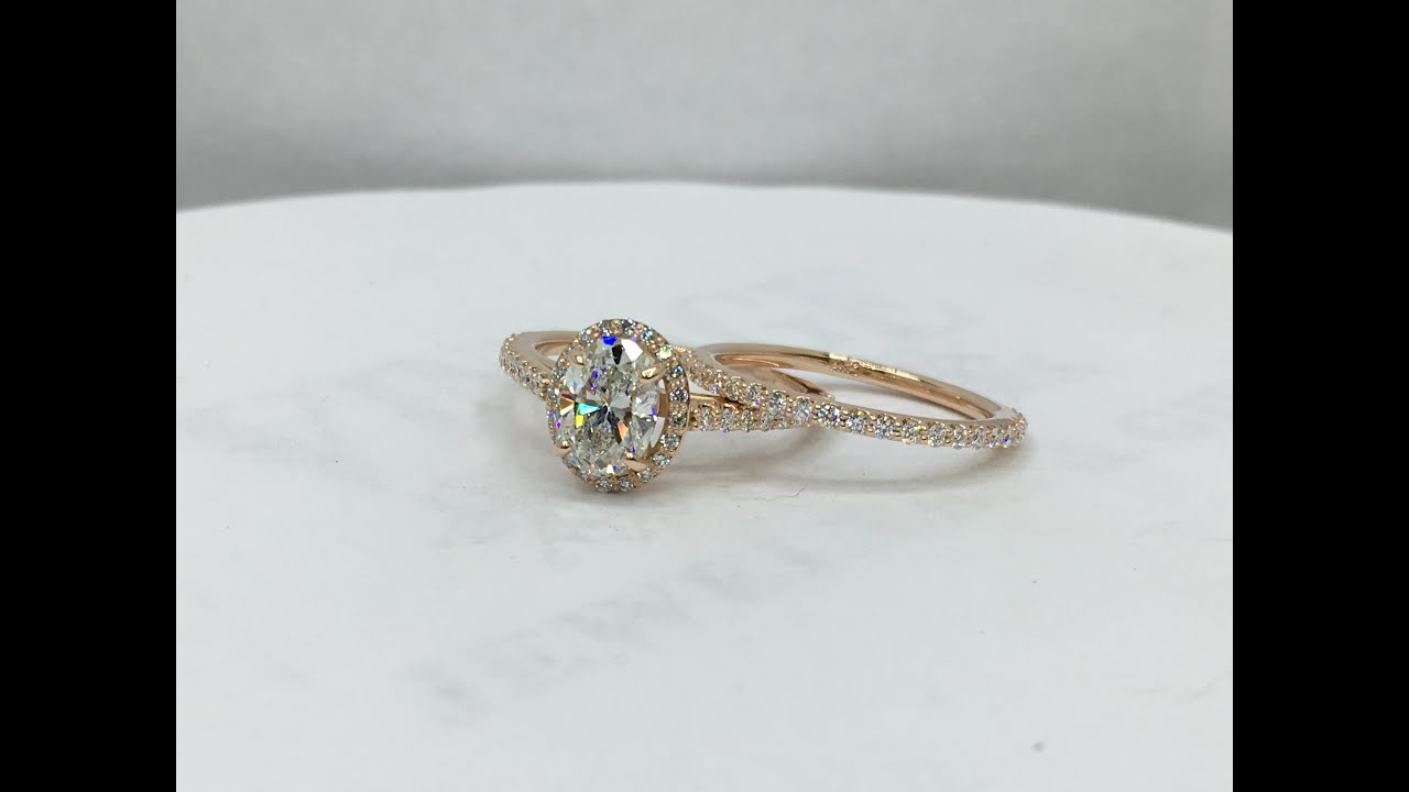 ring gold lane rings neil halo engagement micro split round with rose shank pave uk setting diamond french cushion cut