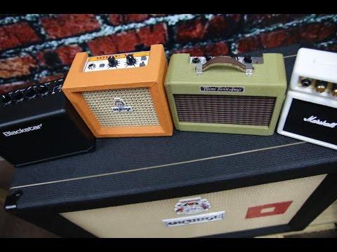CUTE.....& FUNCTIONAL? Micro Sized Amp Battle (featuring Orange, Fender, Marshall & Blackstar)