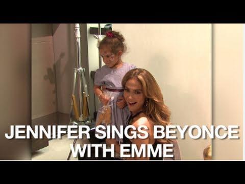 "Jennifer Lopez and Daughter Emme Sing Beyonce's ""Single Ladies"""