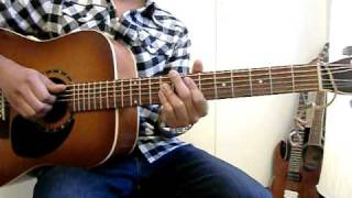 Bruno Mars - The Lazy Song Guitar Tutorial Lesson Videoke Cover by Rikard Music 2011