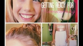 ❁ Homecoming Hair, Makeup & Outfit ❁ Thumbnail