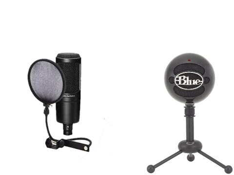 AT2020 USB VS Blue Snowball (lydtest) - YouTube