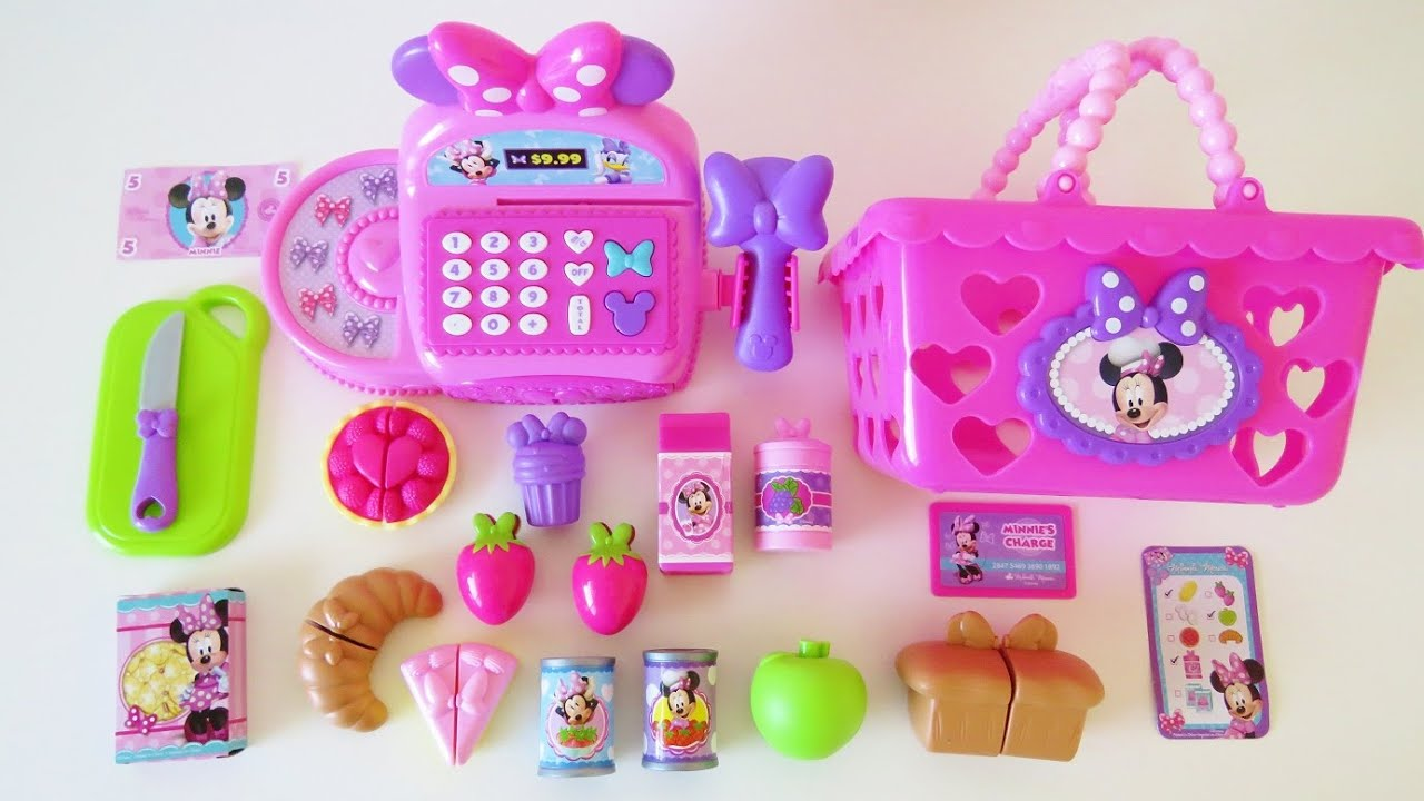 Minnie Mouse bowtastic cash register shopping basket ...
