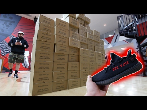 WTF 100 PAIRS OF THE NEW YEEZYS BEFORE THEY COME OUT!!