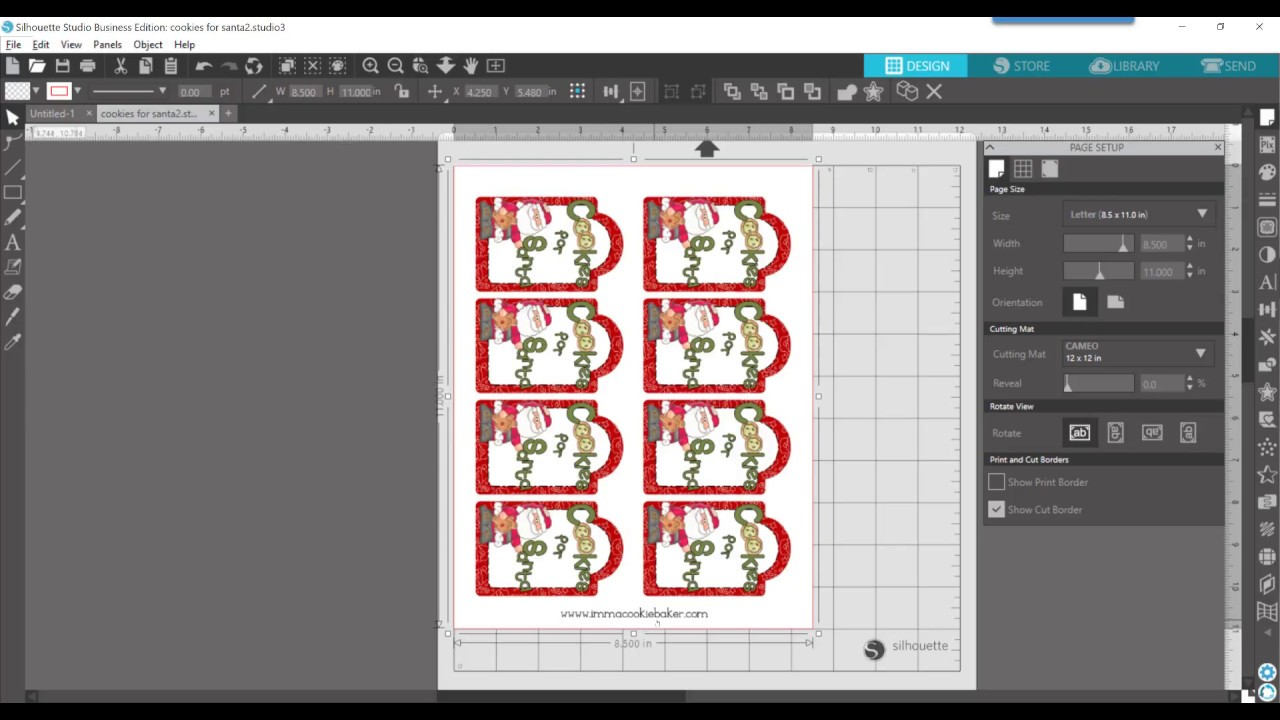 Silhouette Studio V4 Turn Your Pdf Printable Into A Print Cut File