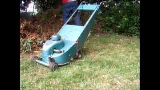 The Sound of mowing the lawn in the 1960's - Webb Rotosythe - 120cc Shay 2 stroke engine
