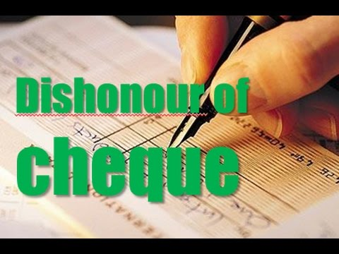 dishonour of cheques Dishonour of cheque - download as word doc (doc / docx), pdf file (pdf), text file (txt) or read online cheque dishonour , liabilities.