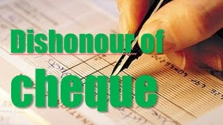 Dishonour of Cheques