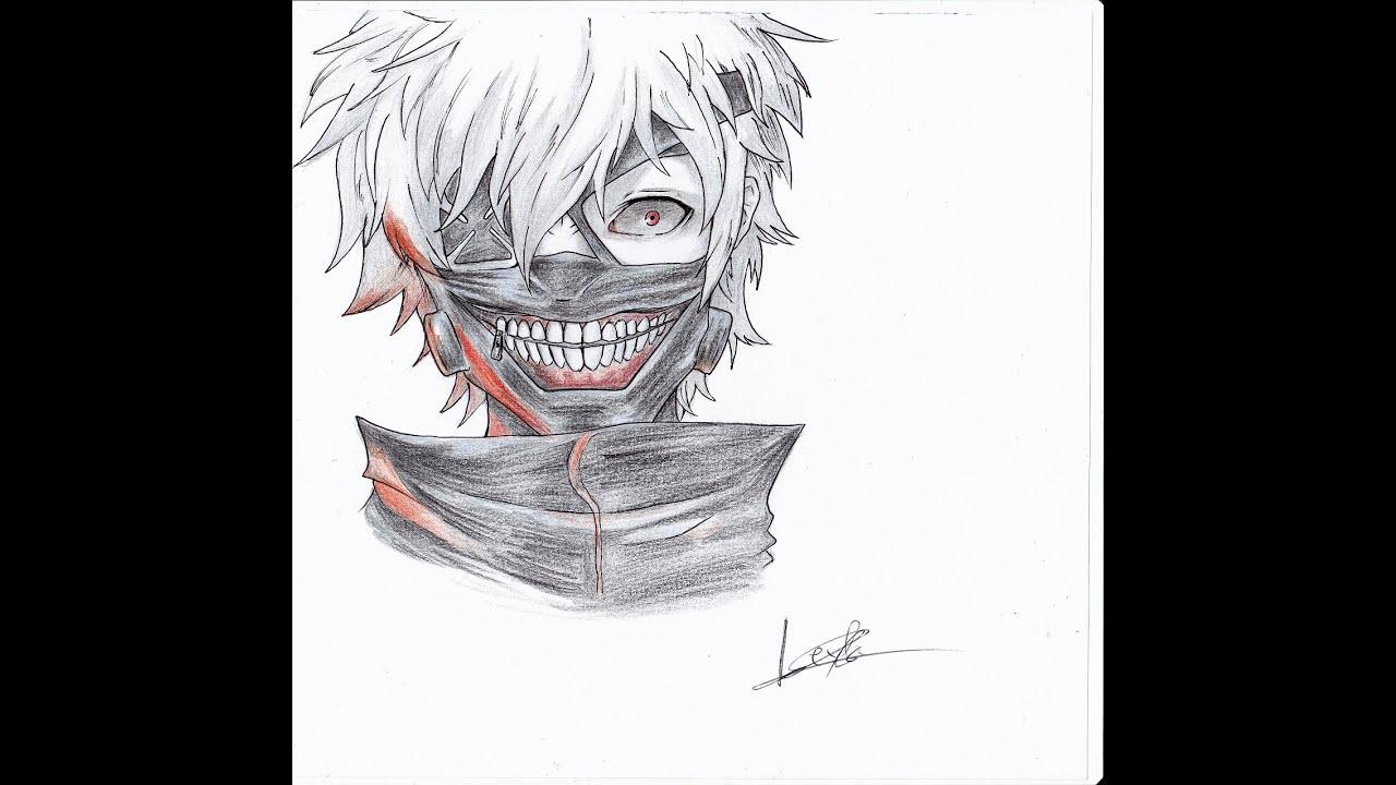 How To Draw Ken Kaneki Tokyo Ghoul Timelapse Como Dibujar
